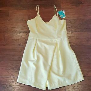 NWT GB JUNIORS lemon mini summer dress